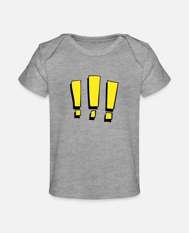 Exclamation Marks Baby T-Shirts - Exclamation marks - Baby Organic T-Shirt heather gray