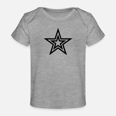 Stars Star with a star - Baby Organic T-Shirt
