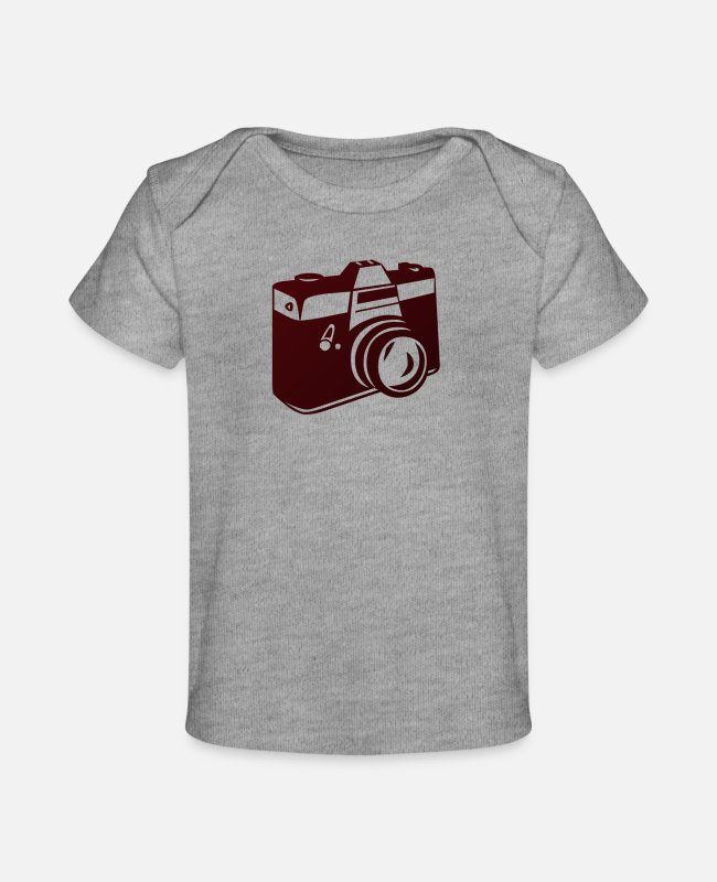 Foto Baby T-Shirts - Photon1 - Baby Organic T-Shirt heather gray
