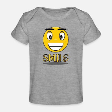 Smiling Smile with a smile - Baby Organic T-Shirt