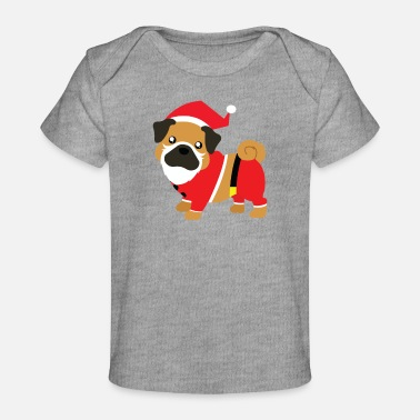 Claus Funny dog dressed up as Santa Claus - Baby Organic T-Shirt