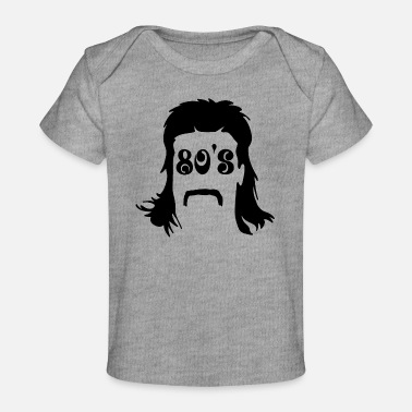 Mullet Mullet & 80's writing - Baby Organic T-Shirt