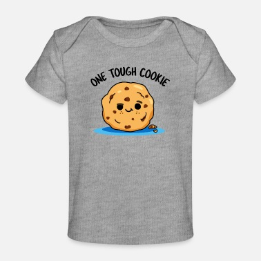Kid One Tough Cookie Cute Chocholate Chip Cookie Pun - Baby Organic T-Shirt