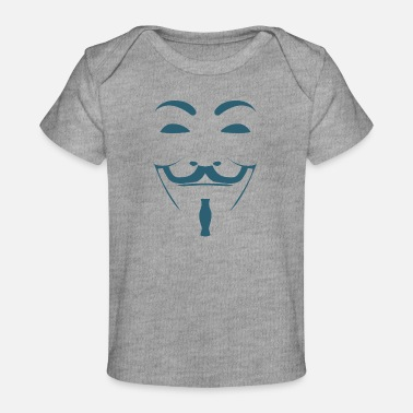 Scientology Anonymous Mask Illustration - Baby Organic T-Shirt