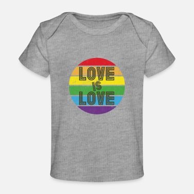 Love Is Love Pride Heart Pride - Love is Love - pride community - rainbow - Baby Organic T-Shirt