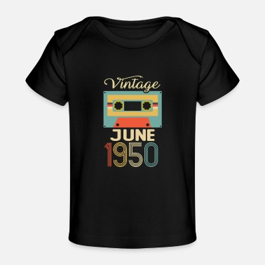 Vintage June 1950 70th Birthday 70 Year Gift - Baby Organic T-Shirt
