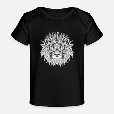 Ethnic Tribal Lion BW - Baby Organic T-Shirt