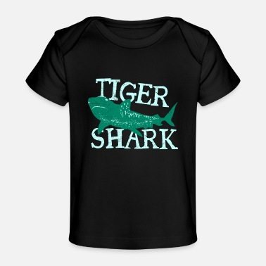 Daughter Fish Tiger Shark Attention Danger Diver Gift Idea - Baby Organic T-Shirt