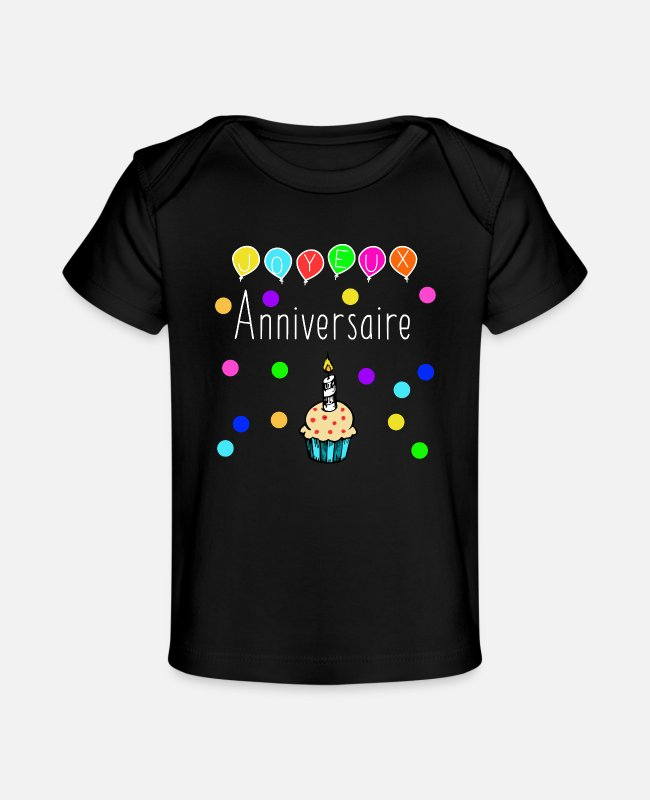 1st Birthday Baby T-Shirts - 1st birthday - Baby Organic T-Shirt black