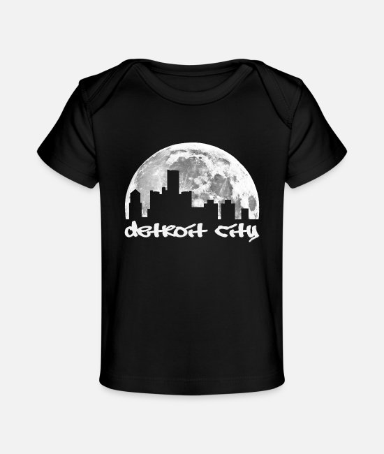 Detroit City Baby T-Shirts - Detroit City - Baby Organic T-Shirt black