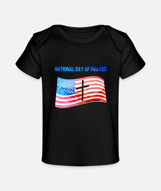 National Team Baby T-Shirts - Apparel for National Day Of Prayer National Day Of - Baby Organic T-Shirt black