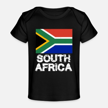 South South Africa National Pride South African Flag Design - Baby Organic T-Shirt