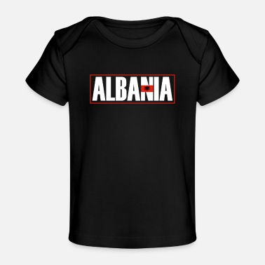 Flag Of Albania Cool Albania Flag, I love Albania, Albania - Baby Organic T-Shirt