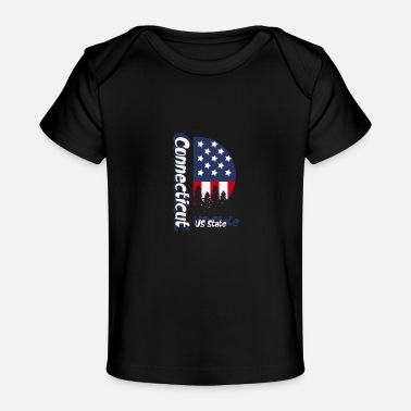 Us State Connecticut US State - Baby Organic T-Shirt