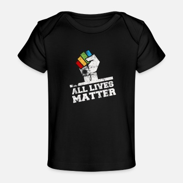 King All Lives Matter with LGBTQ rainbow colors - Baby Organic T-Shirt