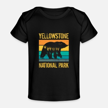 Nature Vintage Yellowstone National Park Bear - Baby Organic T-Shirt