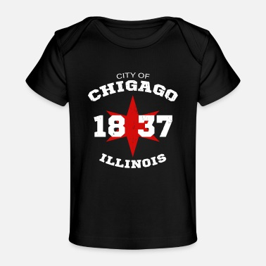 Chicago City of Chicago Illinois White Vintage - Baby Organic T-Shirt