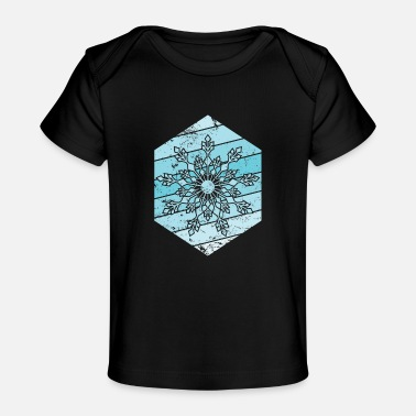 Sleeping frosty snowflake of cold ice - Baby Organic T-Shirt