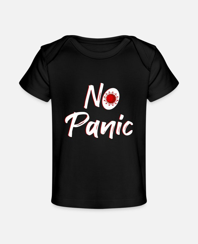 Virus Baby T-Shirts - No Panic Virus - Baby Organic T-Shirt black