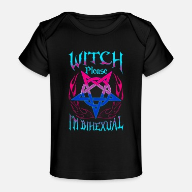 Funny Bisexual Witch Bisexual Hex Pun Funny Bisexuality Pentagram - Baby Organic T-Shirt