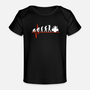 Tambores Drums Heartbeat - EVOLUTION OF DRUMS - Baby Organic T-Shirt
