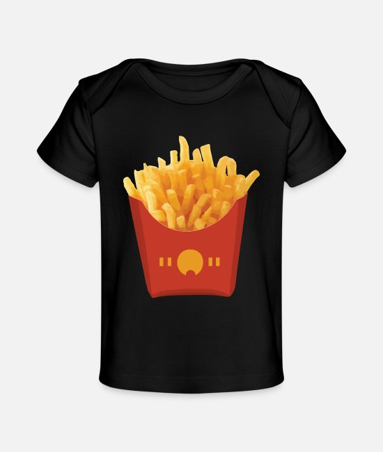 French Baby T-Shirts - FRENCH FRIES - Baby Organic T-Shirt black