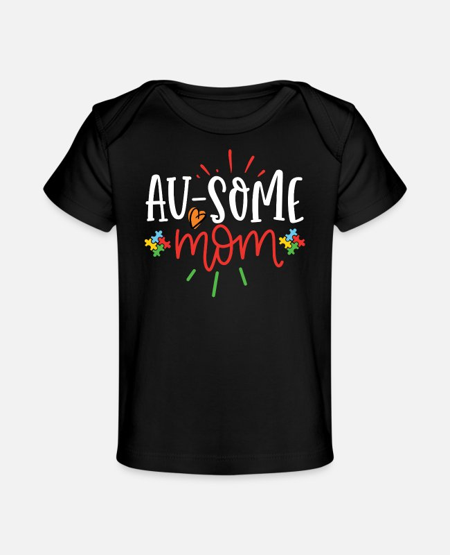 Autism Baby T-Shirts - World Autism Awareness Day Gift Autism Gift - Baby Organic T-Shirt black