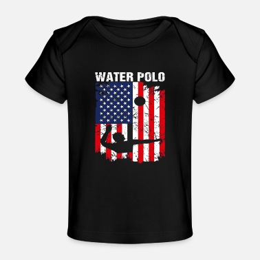 American Flag Water Polo - Baby Organic T-Shirt