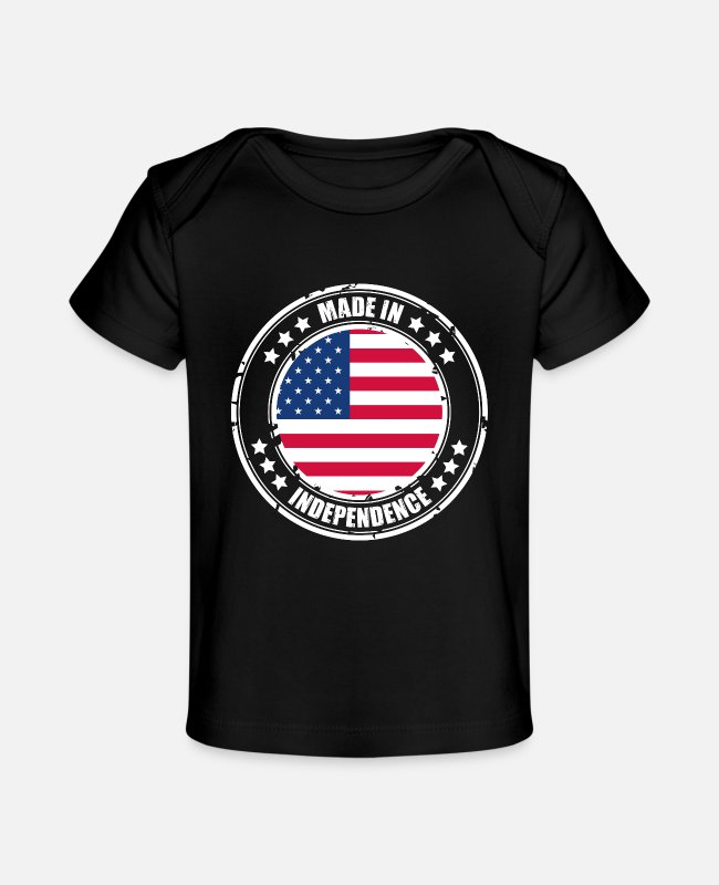 Usa Baby T-Shirts - INDEPENDENCE - Baby Organic T-Shirt black