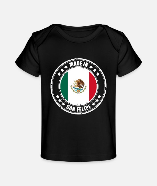 Mexican Baby T-Shirts - MADE IN SAN FELIPE - Baby Organic T-Shirt black