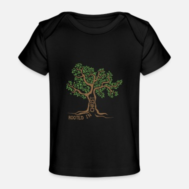 Rooted In Christ Jesus Tree Christian Faith Gift I - Baby Organic T-Shirt