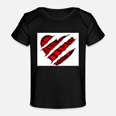 Scratch scratched heart - Baby Organic T-Shirt