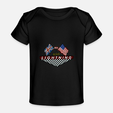 Bsa Vintage Bsa Motorcycles Lightning 650 Badge - Baby Organic T-Shirt