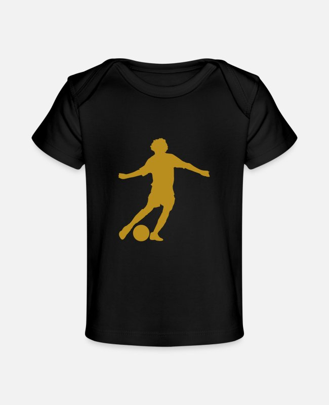 Ball Baby T-Shirts - Soccer Legends 3 - Baby Organic T-Shirt black