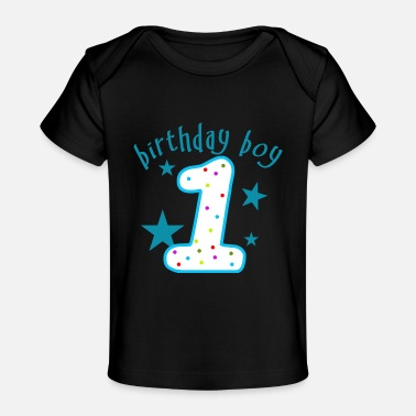 1st 1st Birthday Boy - Baby Organic T-Shirt