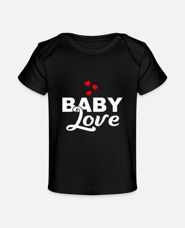 Pregnant Baby T-Shirts - Baby Love - Son - Daughter - Birth - Parents - Baby Organic T-Shirt black