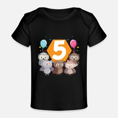 Seal-animal 5th birthday baby five 5 forest animals - Baby Organic T-Shirt