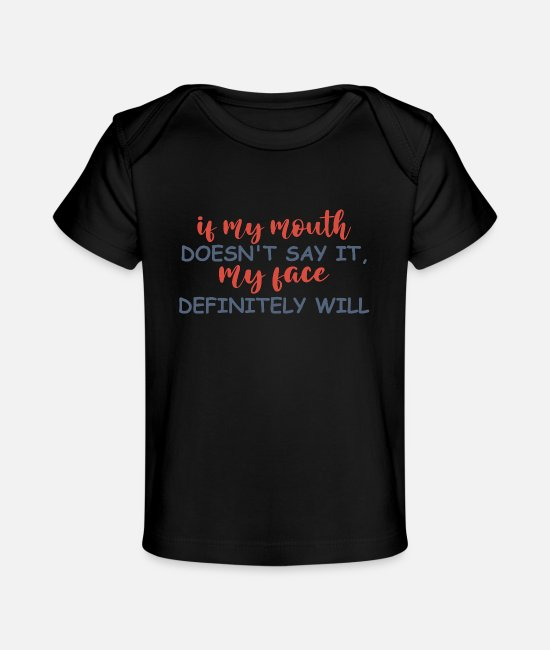 Quote Baby T-Shirts - Funny Shirts | Funny Shirts Humor | Funny Quotes - Baby Organic T-Shirt black