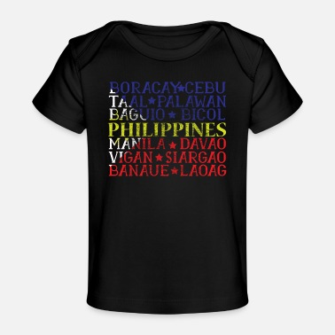 Love Is Love Pride Heart Philippines Ancestry gift idea - Baby Organic T-Shirt