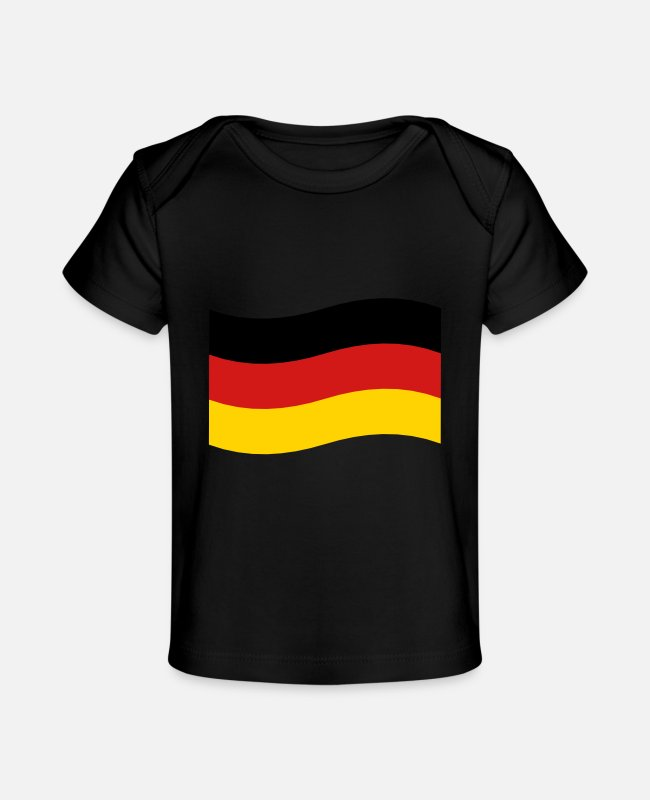 EU Baby T-Shirts - Flag of Germany - Baby Organic T-Shirt black