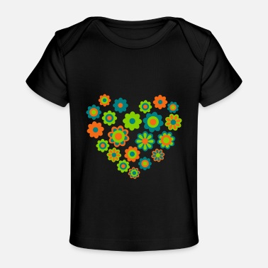 Blossom Heart by Cheerful Madness!! - Baby Organic T-Shirt