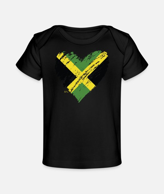 English Baby T-Shirts - jamaica - Baby Organic T-Shirt black