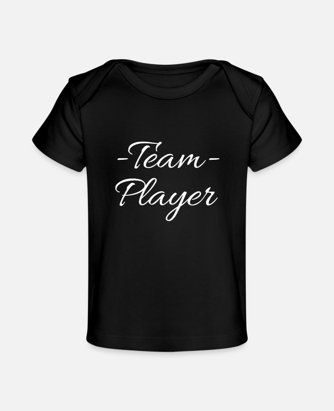 Player Baby T-Shirts - team player - Baby Organic T-Shirt black