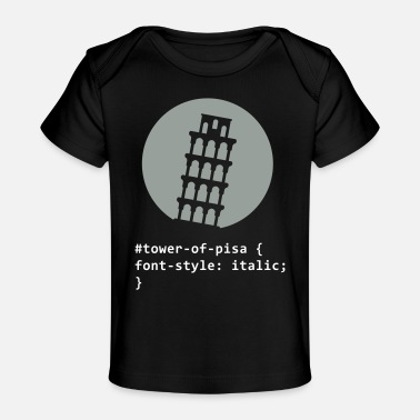 Inclined Tower The Tower Of Pisa - Baby Organic T-Shirt