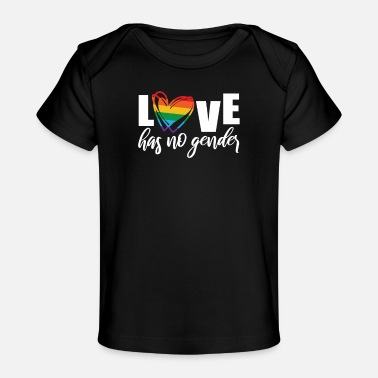 Love Is Love Pride Heart Pride Heart Rainbow Heart Love Has No Gender LGBT - Baby Organic T-Shirt