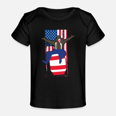 Pbr Patriotic Rodeo Bull Fighter Rodeo Clown - Baby Organic T-Shirt