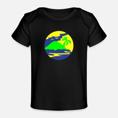 Holiday Island awesome island in a circle Holiday!!! - Baby Organic T-Shirt