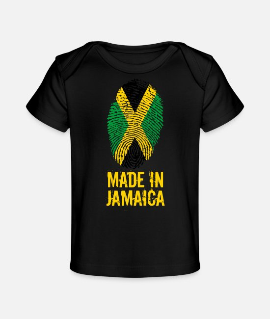 Palm Trees Baby T-Shirts - Made In Jamaica - Baby Organic T-Shirt black
