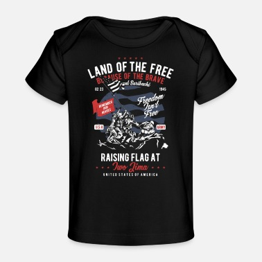 Freedom Freedom Isn't Free - Remember our Heroes - Baby Organic T-Shirt