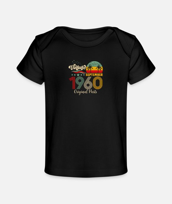 Legend Baby T-Shirts - Vintage September 1960 Original Parts - Baby Organic T-Shirt black